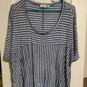 Kim Rogers Tops - !Sale! Kim Rogers 2x pin striped pull over